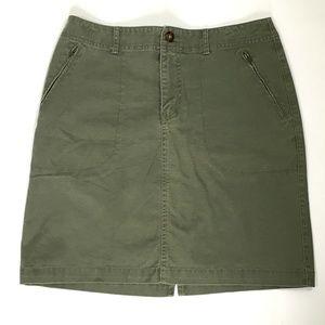 Eddie Bauer straight skirt green stretch (E414)